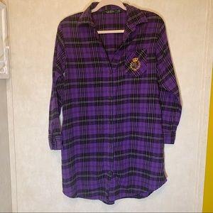 Lauren Ralph Lauren purple plaid nightgown. Size S